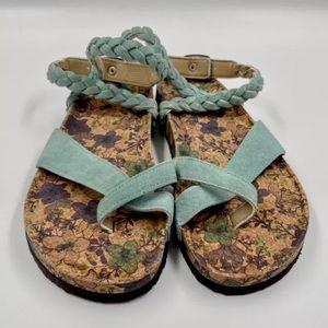 Muk Luks Mint Green Estelle Suede Sandals